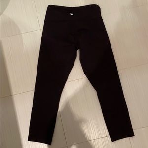 Lululemon Black 3/4 Leggings